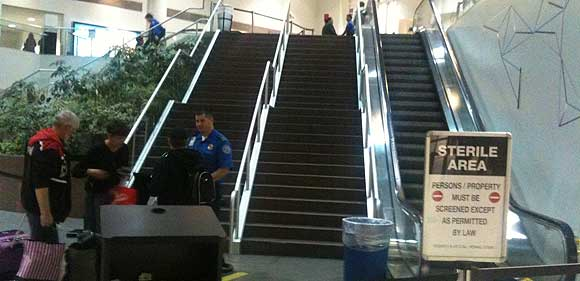 The escalators at LAX